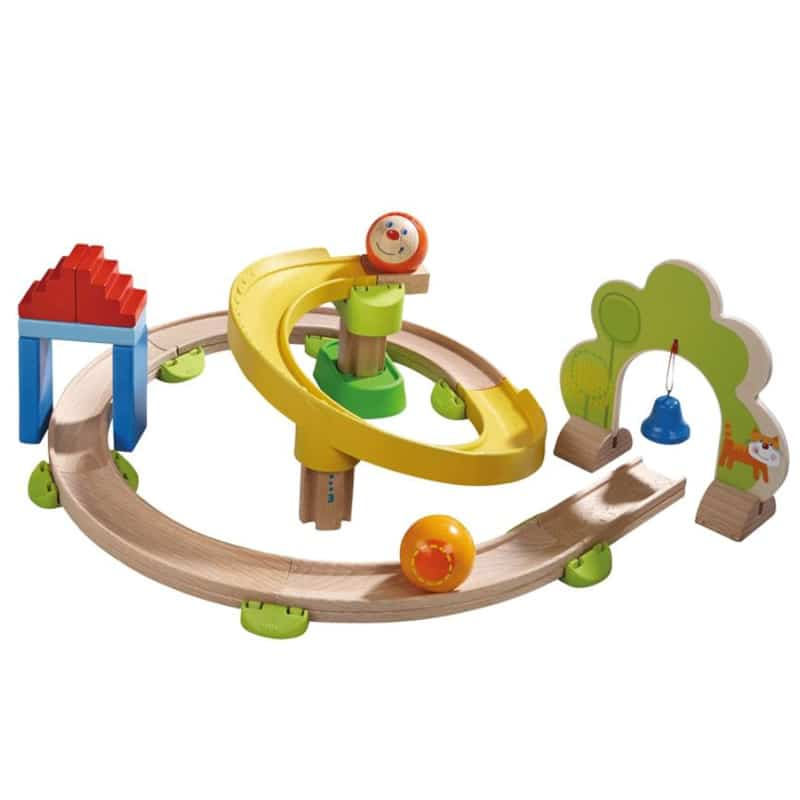 HABA wooden ball run for outdoor play for childre