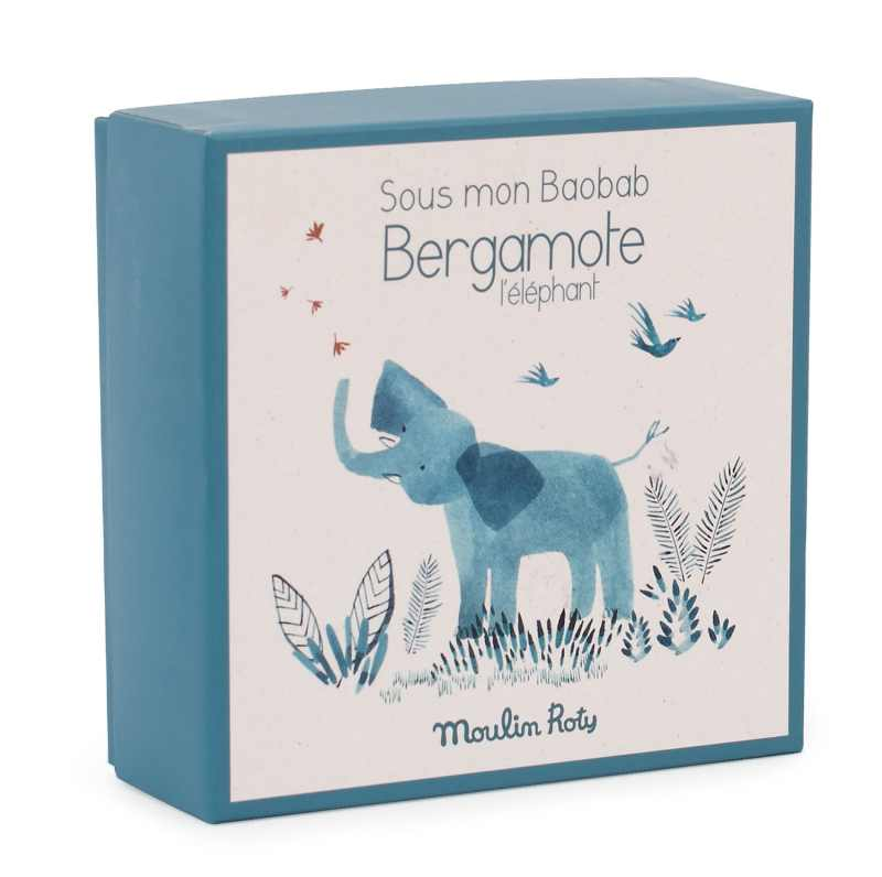 illustrated gift box for elephant comforter - moulin roty