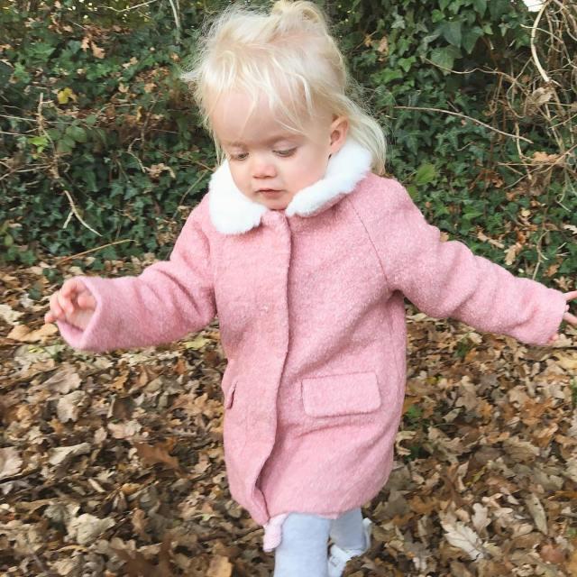 My little adventurer in her big pink coat I canthellip