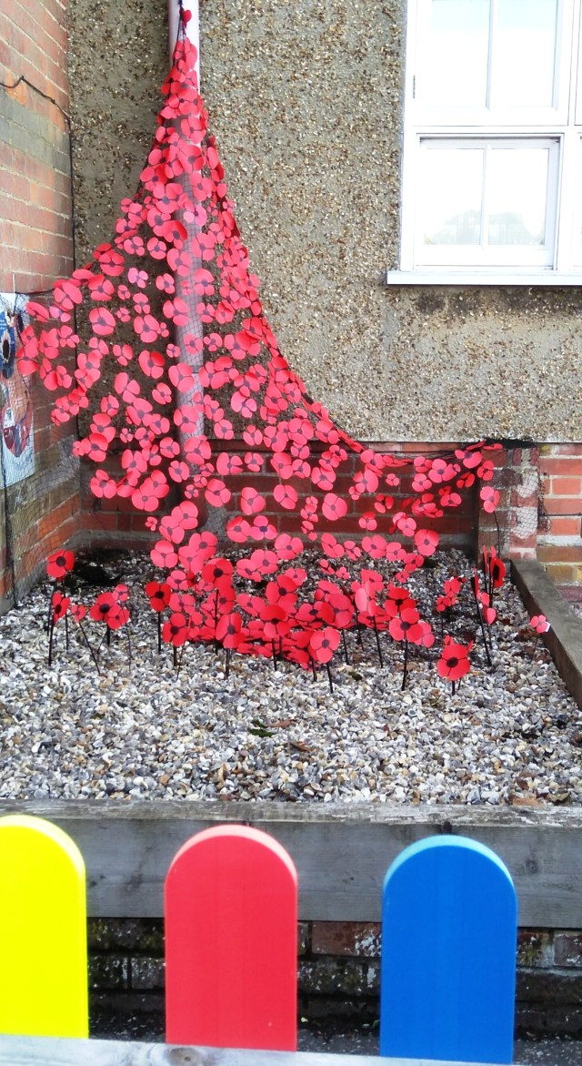 Poppy Cascade commemorating 100 years since the Armistice 11 11 18