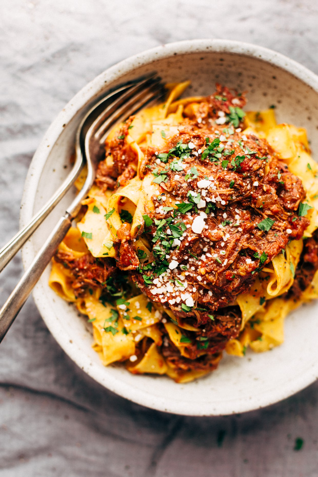 Weekend Braised Beef Ragu With Pappardalle A Simple That S So Simmered On The