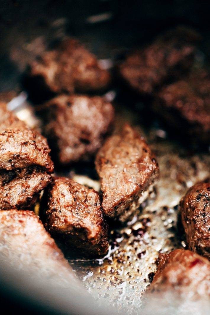 Ridiculously Tender Beef Tips with Mushroom Gravy Recipe ...