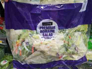 no-cook meal prep ideas: bagged salad
