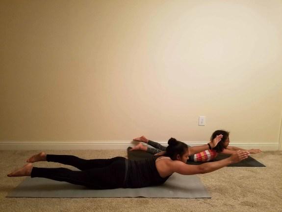 Family Friendly Yoga Routine: Superman Pose