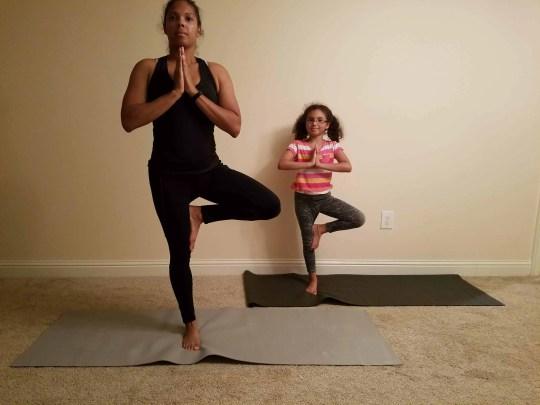Family Friendly Yoga Routine: Tree Pose Left Side