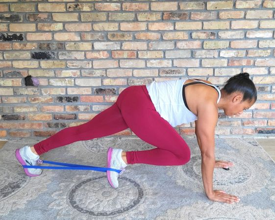 Mountain Climbers with resistance band - resistance band exercises for abs