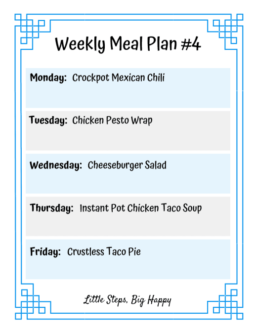 Weekly Meal Plan 4