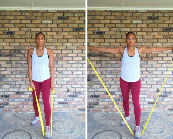 Lateral Raise - Resistance Band Exercises for Arms