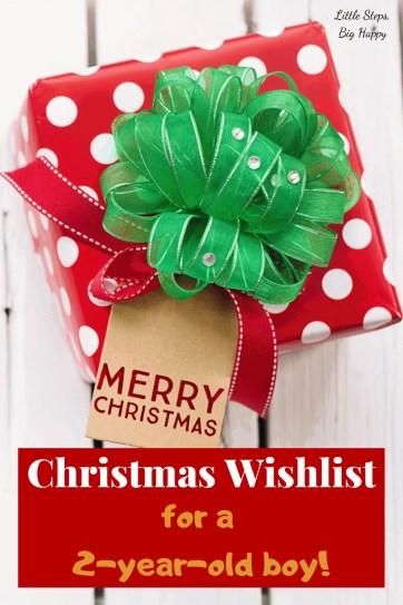 Christmas Wishlist for a 2-year-old Boy
