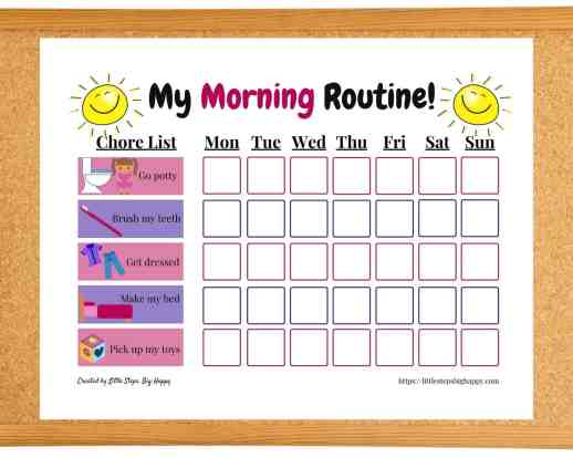 Teaching Independence in Preschoolers - My Morning Routine Chart