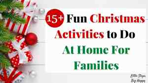 15+ Fun Christmas Activities to Do At Home for Families
