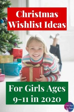 Christmas Wishlist Ideas for Tween Girls Ages 9-11