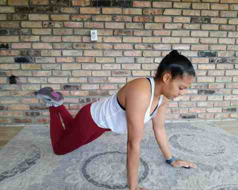 Shoulder Tap From Knees - 20 Min Tabata Workout for Beginners: Abs & Arms