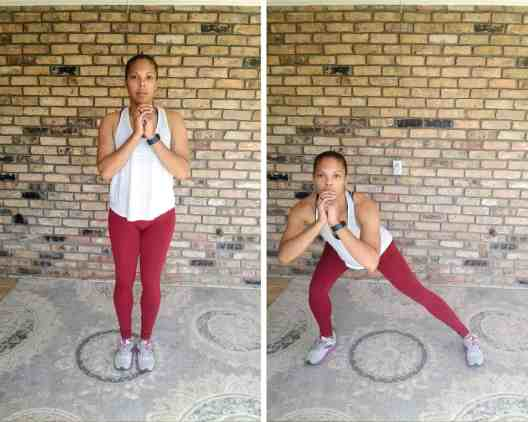 Side Lunges - Quick Beginner Full-Body Workout - No Equipment