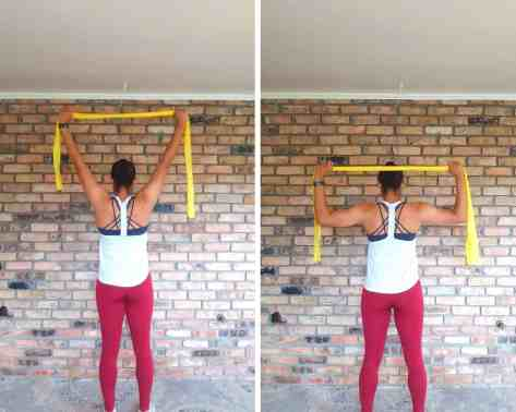 Lat Pulldown - Resistance band exercises for back and shoulders