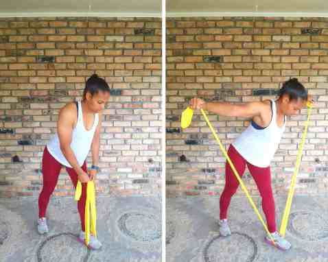 Back Fly - Resistance band exercises for back and shoulders