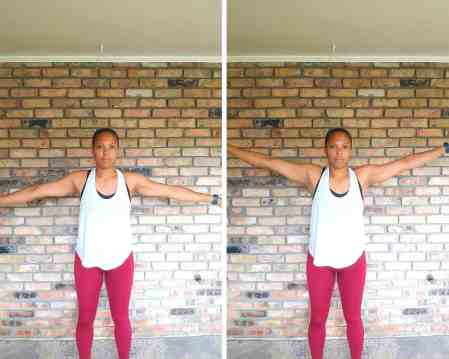 Arm Circles - Exercises for flabby arms