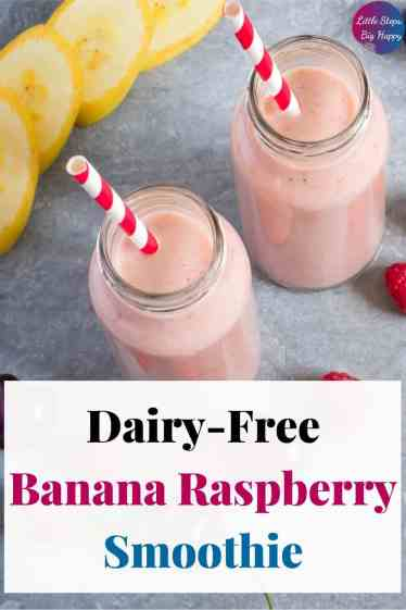 Yummy Frozen Banana Raspberry Smoothie Without Yogurt