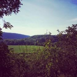 Vue sur la campagne avoisinante depuis le parc Buffon de Montbard