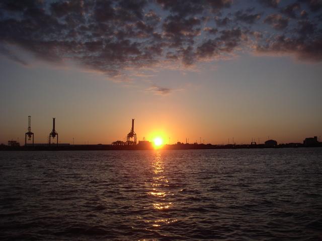 Sunrise Behind Felixstowe