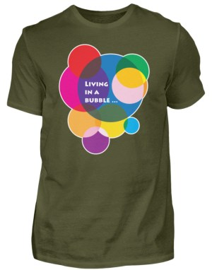 herren, t-shirt, living, bubble