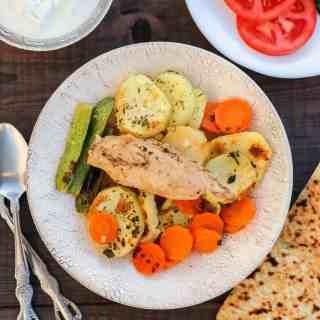 Seneyet Jaj (Middle Eastern Chicken Potato Bake)