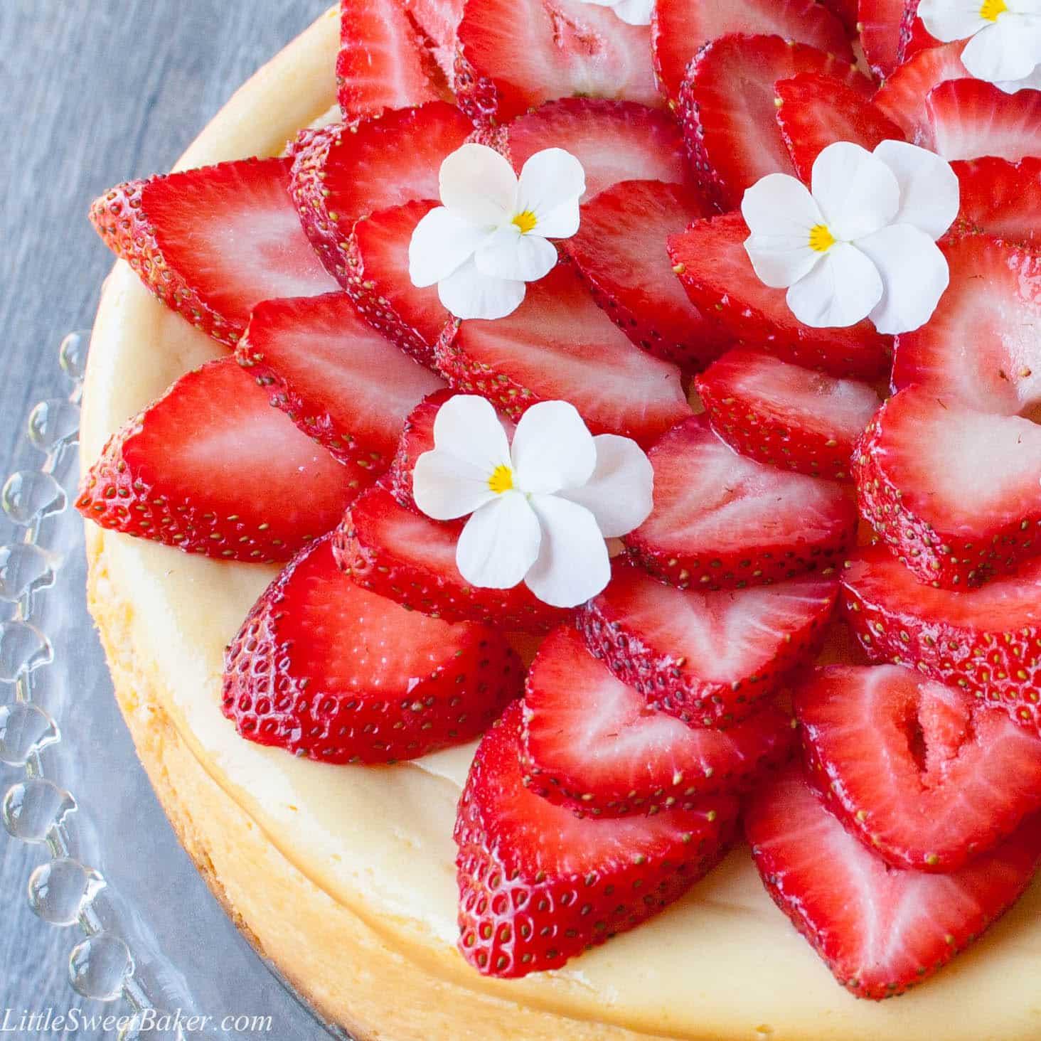 White Chocolate Cheesecake - Little Sweet Baker