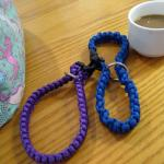 Image is our finished cuffs and a cup of coffee