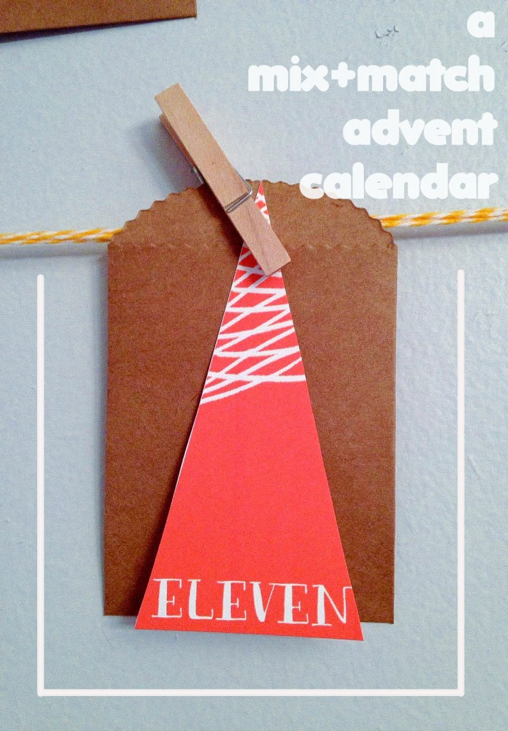 a mix + match Advent calendar using Love from Ginger's DIY Forest Advent