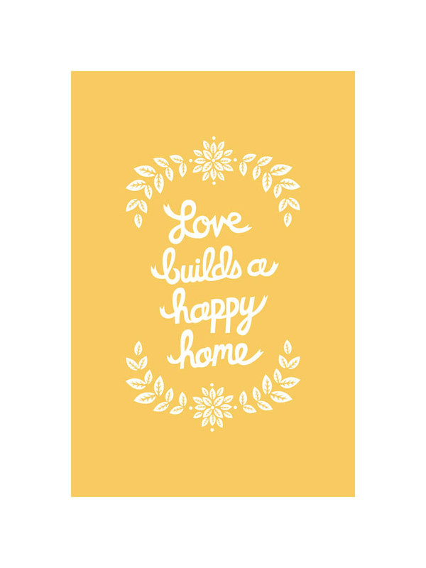 Love Builds limited edition print by Wondercloud Design