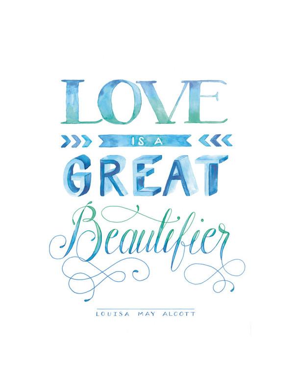 Love Beautifying in Watercolor by Jenna Blazevich