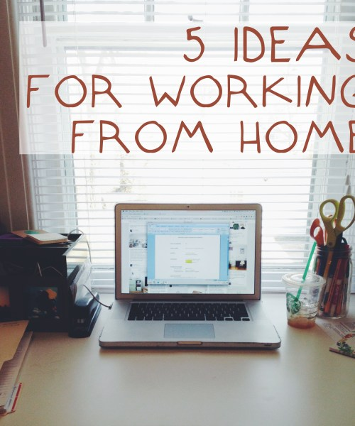5 ideas for successfully working from hoome