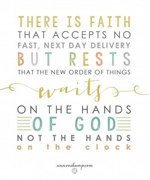 wait on the hands of God