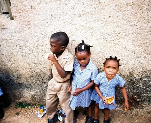 Jamaican elementary school children