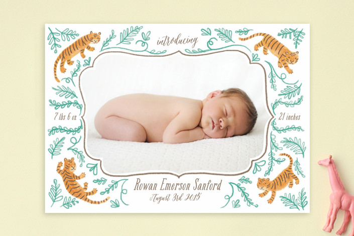 wild side birth announcement by by rebecca turner  for Minted
