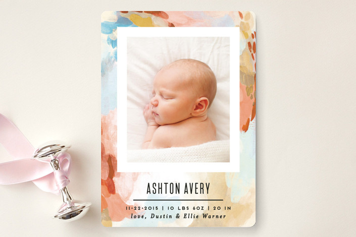 canvas snapshot birth announcement by by alethea and ruth for Minted