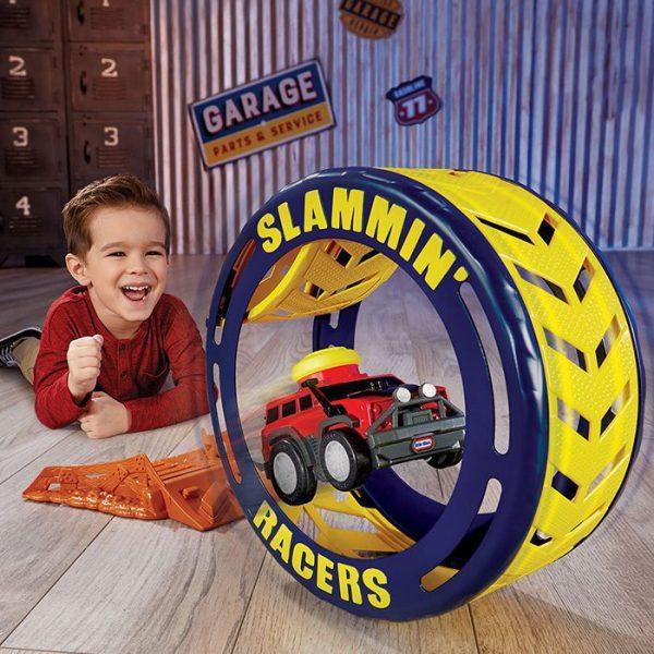 Slammin Racers Turbo Tire Playset With Kid