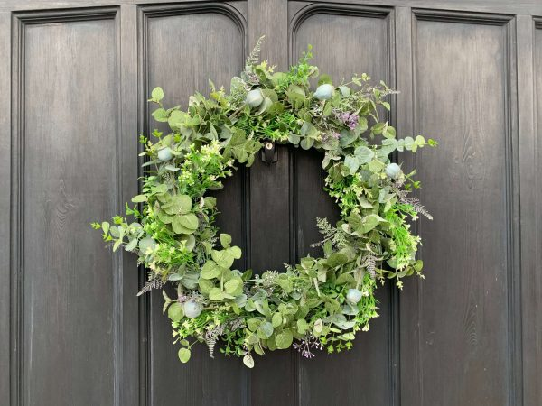 Door wreath faux