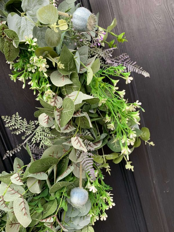 Faux Door Wreath