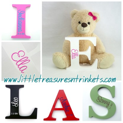 Personalised Engraved Wooden Letters
