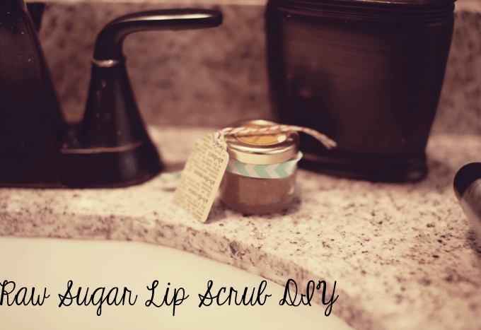 DIY Raw Sugar Lip Scrub