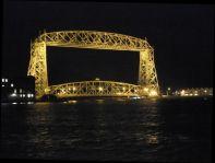 AERIAL BRIDGE AT NIGHT