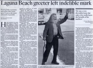 THE GREETER - LAGUNA BEACH'S CULTURAL ICON