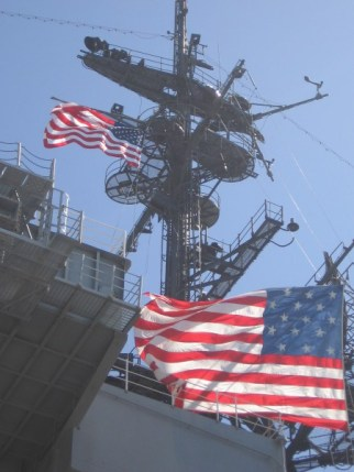FLYING FROM THE USS MIDWAY