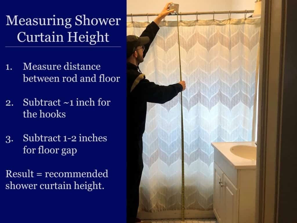 perfect shower curtain size