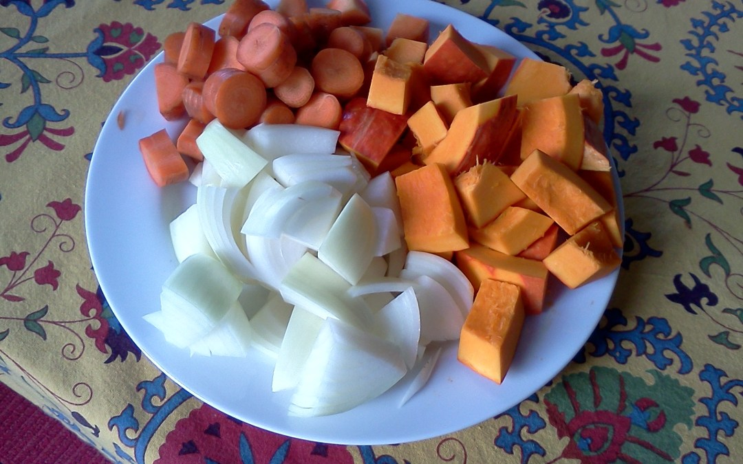 Squash, Carrot and Onion – Nishime Style