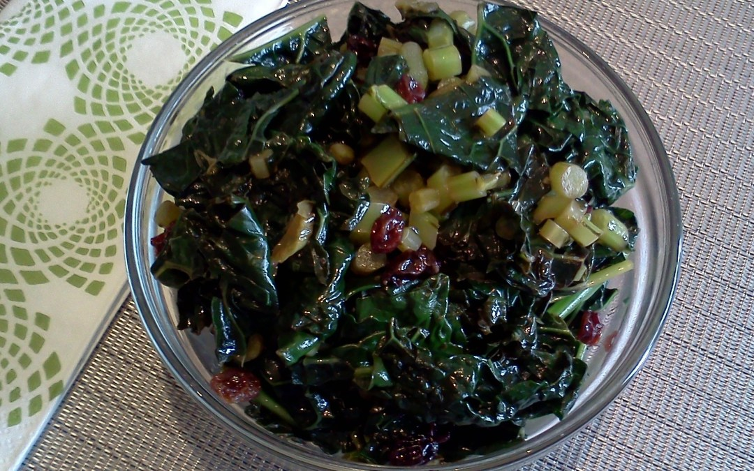 Lemon Kale Recipe with Currants