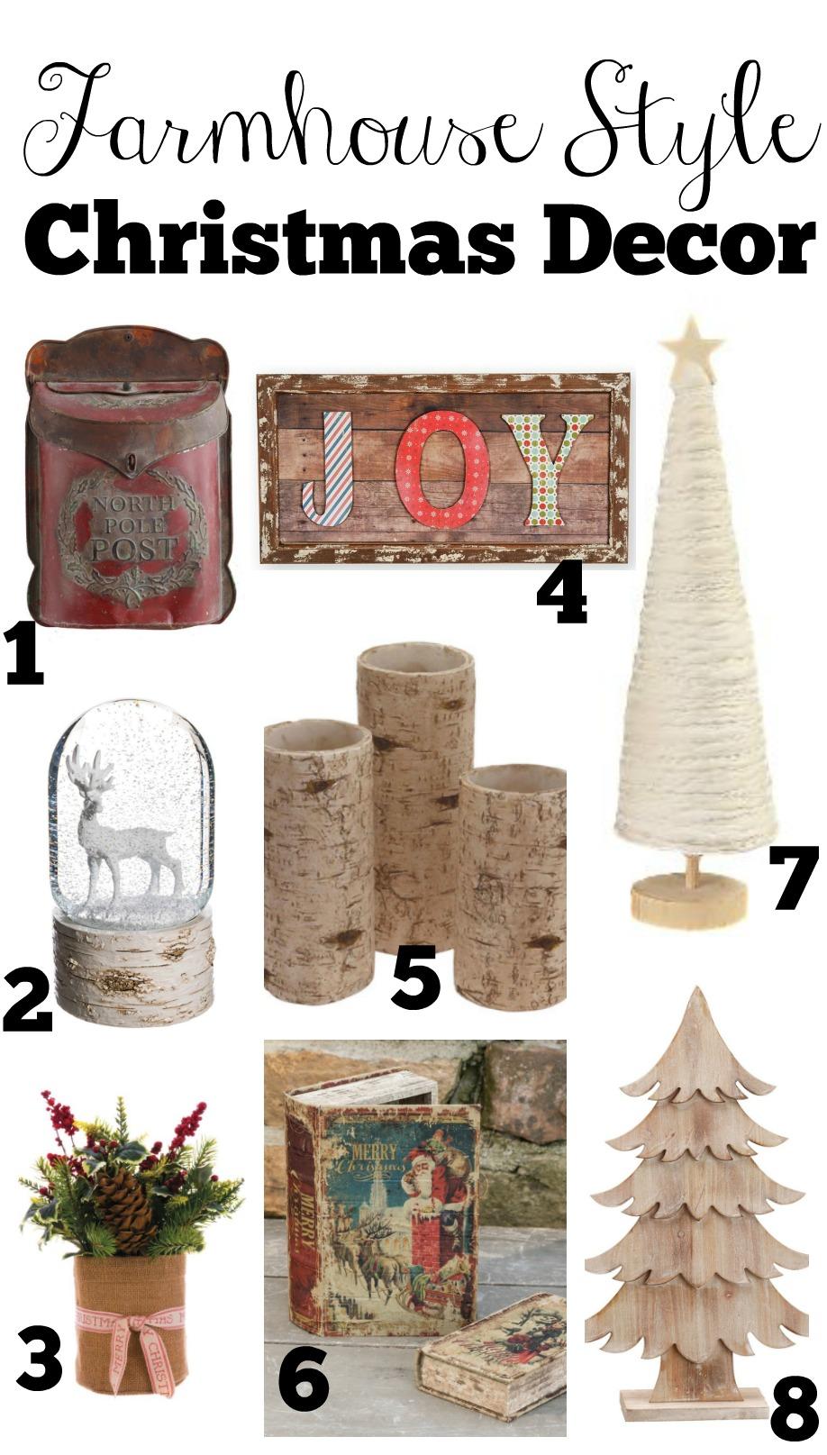 Farmhouse Style Christmas Decor Guide Little Vintage Nest