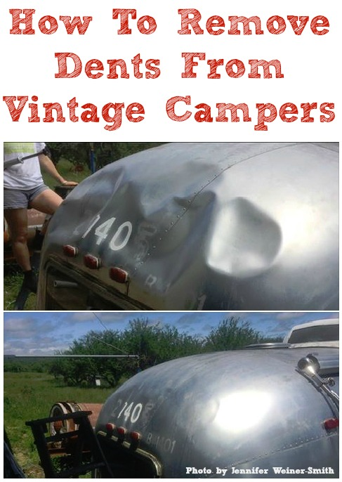 How To Remove Dents from Vintage Campers