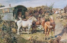 Gypsy Camp With Horses